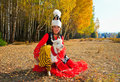 Beautiful Kazakh lady in traditional costume Royalty Free Stock Photography