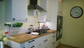 Beautiful kitchen design furniture kitchenware and appliances for in the store ikea Stock Images