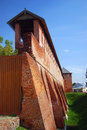 Beautiful Kremlin tower and wall, Kolomna, Russia Stock Photos