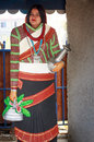 A beautiful lady in artificial newari dress neplease girl pokhara nepal Stock Photography