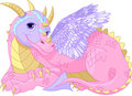 Beautiful lady Dragon Stock Images
