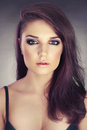 Beautiful lady fashion photo of young brunette Stock Photos