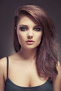 Beautiful lady fashion photo of young brunette Stock Image