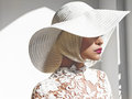 Beautiful lady in hat Royalty Free Stock Photo