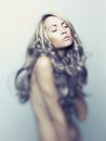 Beautiful lady with magnificent hair photo of young blond Royalty Free Stock Photography