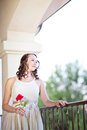 Beautiful lady with a rose Royalty Free Stock Photography