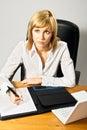 Beautiful Lady Writing Royalty Free Stock Image