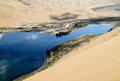 Beautiful lake in desert a the is northwest of china Royalty Free Stock Image