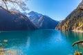 Beautiful lake in Jiuzhaigou national park Royalty Free Stock Photo