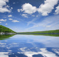 Beautiful Lake Landscape Stock Photo