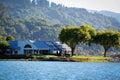 Beautiful lake and mountain near sausalito california Royalty Free Stock Photography
