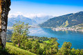 Beautiful landscape with alps and mountain lake in zell am see austria Royalty Free Stock Photos