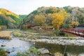 Beautiful landscape in autumn at Korankei, Japan Royalty Free Stock Photo