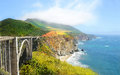 Beautiful landscape, Bixby Bridge Big Sur, California, USA Royalty Free Stock Photo