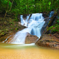 Beautiful landscape deep forest mountain creek waterfall Royalty Free Stock Photography