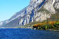 Beautiful landscape in Lecco Lake, Lombardy Italy Royalty Free Stock Photo