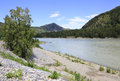 Beautiful landscape of the mountain river katun altai russia Royalty Free Stock Photography