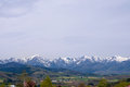 Beautiful landscape mountain and snow  Panorama Royalty Free Stock Photo