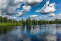A beautiful landscape of the nature an amazing containing lake and blue sky wild ontario canada Stock Photography