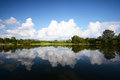Beautiful landscape reflections of cloud and tree Royalty Free Stock Photo