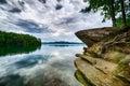 Beautiful landscape scenes at lake jocassee south  carolina Royalty Free Stock Photo