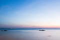 Beautiful landscape sea and sky at sunset of thailand Stock Photography