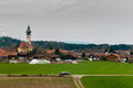 Beautiful landscape of a village in Austria Royalty Free Stock Photo