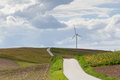 Beautiful landscape with wind turbine Stock Photo