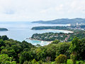 Beautiful lanscape of three bays phuket thailand from view in point Royalty Free Stock Photo