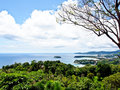 Beautiful lanscape of three bays phuket thailand from view in point Royalty Free Stock Image