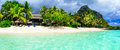 Beautiful Le Morne Beach,Mauritius. Royalty Free Stock Photo
