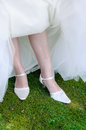 Beautiful leg of the young bride Royalty Free Stock Images