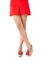 Beautiful legs in mini skirt and high heel sandals Royalty Free Stock Photo