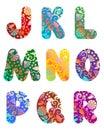 Krásny abeceda sada 2