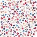 Beautiful liberty Seamless floral pattern. Background in small c