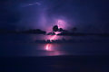 Beautiful lightning landscape Royalty Free Stock Photo