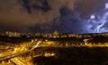 Beautiful lightning in the sky Royalty Free Stock Photo