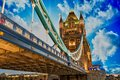 Beautiful lights of Tower Bridge in London Stock Photos
