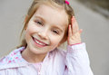 Beautiful liitle girl close-up Royalty Free Stock Photo