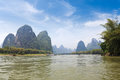 Beautiful lijiang river in guilin Royalty Free Stock Photos