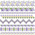 Beautiful lilac, yellow and green trim collection Stock Images