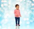 Beautiful little baby girl walking Royalty Free Stock Photo