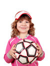 Beautiful little girl with ball Royalty Free Stock Photos