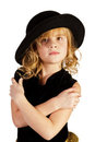 Beautiful little girl in a hat Stock Photography