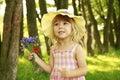 Beautiful Little Girl On Natur...