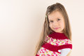 Beautiful Little Girl Posing Stock Photography