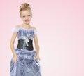 Beautiful little girl in Princess dress.