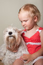 Beautiful Little Girl And Whit...