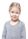 Beautiful little girl winking isolated Royalty Free Stock Photo