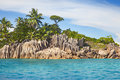 Beautiful little island st pierre in the indian ocean Royalty Free Stock Image